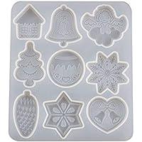 NINGYE - Molde de resina epoxi de cristal, diseño de Navidad