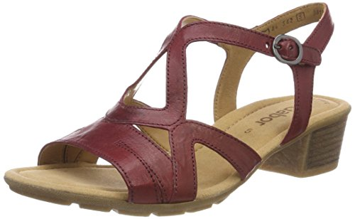 Gabor Shoes Gabor Casual, Sandales Bride Cheville Femme, (Dark-Red), 41 EU
