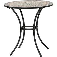 MWH 380817 Prato Table de Jardin Structure Acier Noir 70 x 70 x 69,5 cm