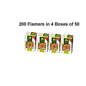 Galleon Fieplaces Flamers 4 Boxes of 50 (200) Natural Firelighters for log burners, Home fires, BBQ's, Even Larger Pack!