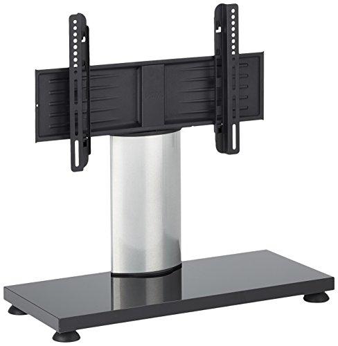 VCM Support TV Table Onuti Mini, Aluminium, Argent/Laqué Blanc, 54,5x68x30 cm