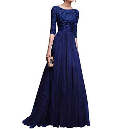 Moonuy Frauen Half Sleeved Dress Lange Kleider 2018 Elegante Schlanke Brautjungfer Lange Maxi...