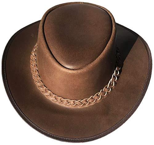 Brandslock Männer Chocolate Brown Aussie Cowboy-Western-Down Under Lederhut
