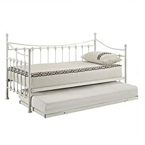 versailles french day bed and trundle white metal frame kitchen home. Black Bedroom Furniture Sets. Home Design Ideas