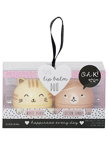 mco-npw-oh-k-character-white-peach-and-cotton-candy-scented-lip-balm-duo