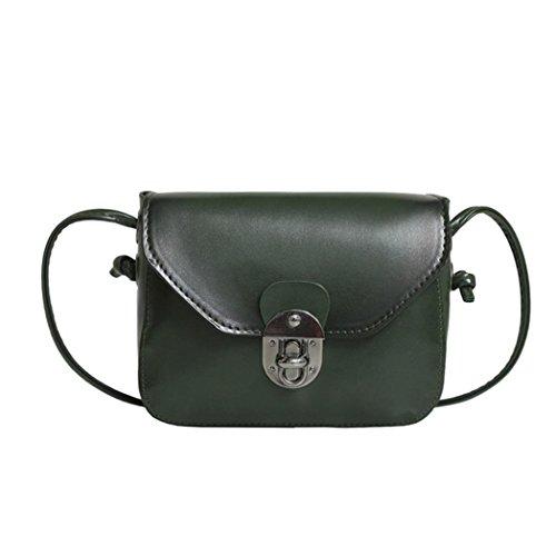 Jamicy Delle ragazze delle donne borsa di cuoio casuale borsa Crossbody Borsa a tracolla Verde
