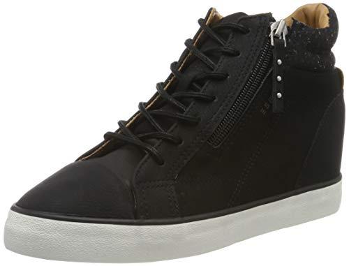 ESPRIT Damen Star Wedge Hohe Sneaker, Schwarz (Black 001), 38 EU