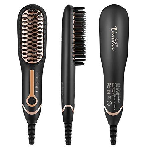 Bartglätter Männer Schnelle Bartglätter Kamm Haarglätter Bürste Glätteisen Bürste Einstellbare Temperatur Haarglätter Bart Haar Anti Verbrühen Haarglättung Bürste für Flexibles Modellieren