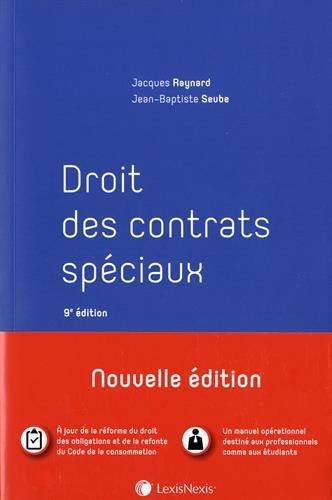 Droit des contrats spéciaux par Jean-Baptiste Seube