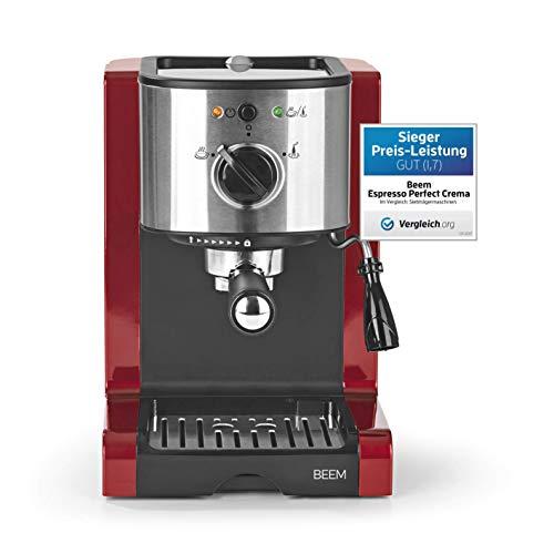 BEEM 02051 Espresso Perfect (Verbesserte Version 2019!) | Espressomaschine für Pulver & Pads (1350 Watt, 15 bar) | Espresso, Cappuccino, Latte Macchiato, XXL-Crema, Kaffee Lungo (Generalüberholt)