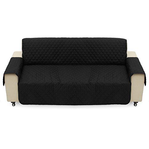 DADEQISH Tappetino di protezione per divano letto nero per animali domestici Cuscino rimovibile Impermeabile Cat Pad Divano a 3 posti Tappetino Accessori utensili