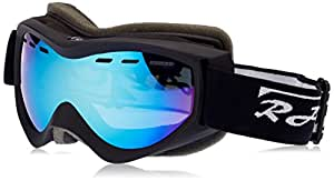Rayzor Professional UV400 Double Lensed Ski / SnowBoard Goggles, With a Matt Black Frame and a Vented Anti Fog Coated, Smoked Mirrored Anti-Glare Wide Vision Clarity Lens.