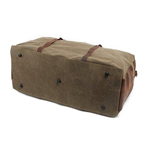 Reise-Duffle-Schulter-Handtasche Übergroße Weinlese-Segeltuch-Duffle-Tasche Reise-Tote-Sport-Turnhalle Leinentasche Wochenende-Tasche für Männer grün