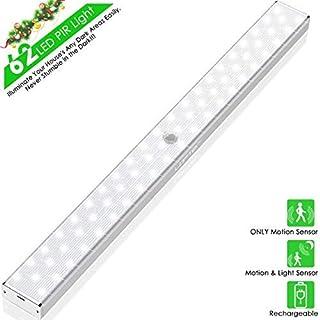 LED Sensor Licht 62 LED Schrankbeleuchtung, LOFTer LED Bewegungsmelder Schrankleuchten, Küchenlampen Kabinett Nachtlicht Unterbauleuchte