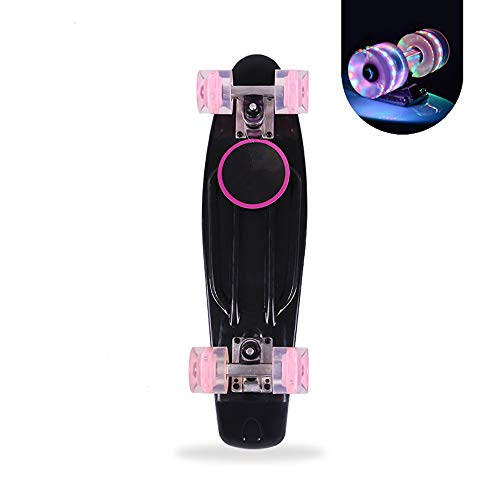 Cruiser Mini Kunststoff Skateboards mit LED leuchten Räder Geburtstagsgeschenke für Kinder Jungen Mädchen 4 Jahre alt und bis ()