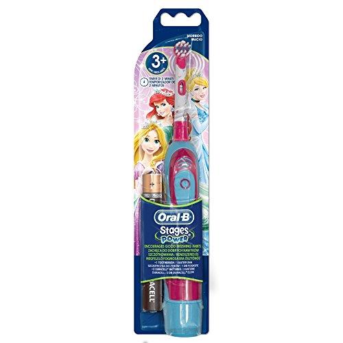 Oral-B - Cepillo de dientes eléctrico (funciona con pilas), diseño de princesas Disney