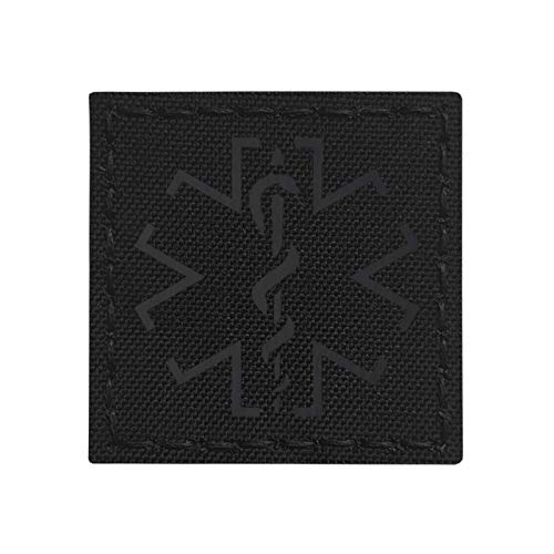 IR Blackout EMS Star of Life Medic 2x2 Infrared Tactical Morale Hook-and-Loop Patch