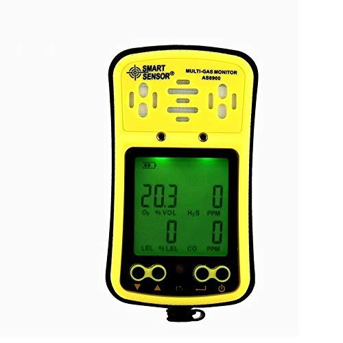 Digitaler Multi-Gasmonitor Sauerstoff/Hydrothion/Kohlenmonoxid/Combustile 4in1 Gaszähler Detector Tester Analyzer Hand-LCD-Display Hintergrundbeleuchteter Akku-Sound-Lichtalarm Multimeter Digita -