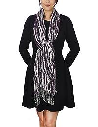 Women Ladies Long Chunky Bubble Scarf Fashion Lovely Women Scarves (Purple 1)