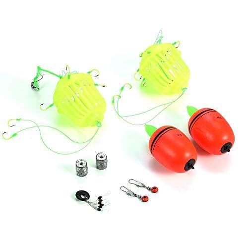 Angelgerät Kit Methode Feeder Karpfen Angel Feeder Locken Feeder Float Haken für Outdoor Angeln(10#) -
