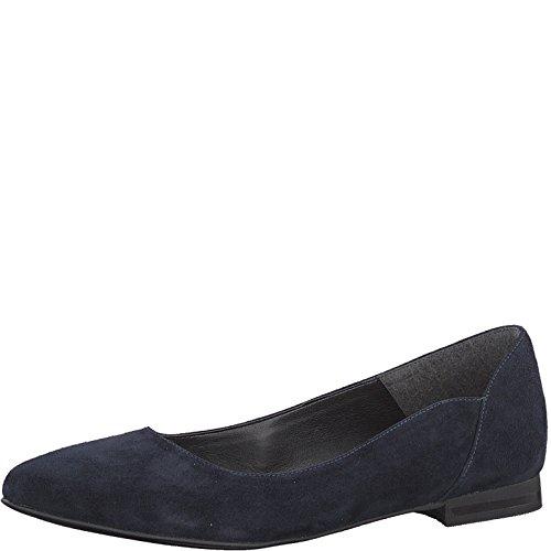 Tamaris 1-1-22156-22 Damen KlassischeBallerinas,Flats,Sommerschuh,klassisch elegant,Navy Suede,37 EU