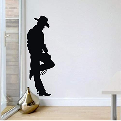 Zxfcczxf West Cowboy Black Charakter Boy Zimmer Vinyl Wandtattoo Wand Kunst Wandaufkleber Bar Livng Zimmer Schlafzimmer Heim Dekorative 55 * 160 Cm