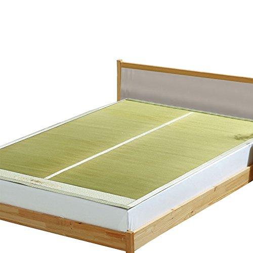 HAIPENG Sommer Faltbar Schlafen Pad Binsenmatte Matten Matratze Pads Stroh Matte Rein Natürlich Dick Doppelt Bett (Ohne Kissenbezüge) Faltbar 1,5m Bett (größe : 180x200cm) (Stroh-matte Schlafen)