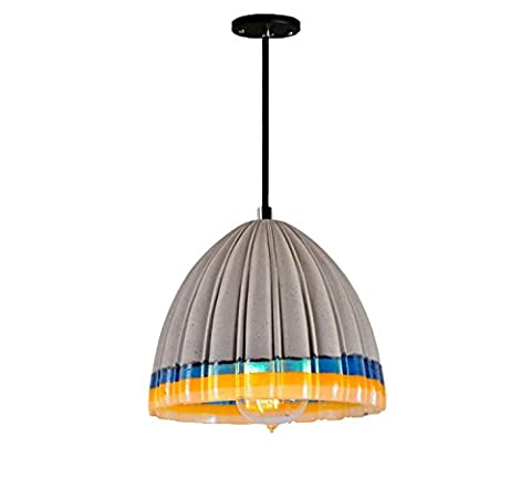 GRFH Cement Pendant Lights Three-Dimensional Color Shade Fold Series Creative Concrete Pendant Lamp Coffee Restaurant Resin Cement Lamp E27 110V-240V ,