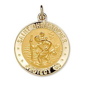 14kt Gelb 18mm Round St. Christopher US Marine Corps Medal - 14kt Yellow 18mm Round St. Christopher U.S. Marine Corps (Christopher Us Marine)