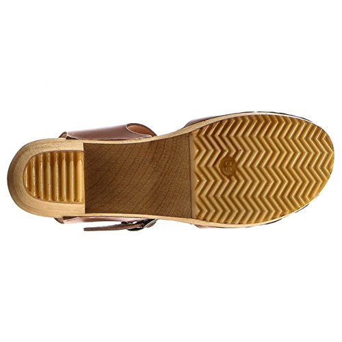 Moheda Womens Kats Leather Sandals Cognac