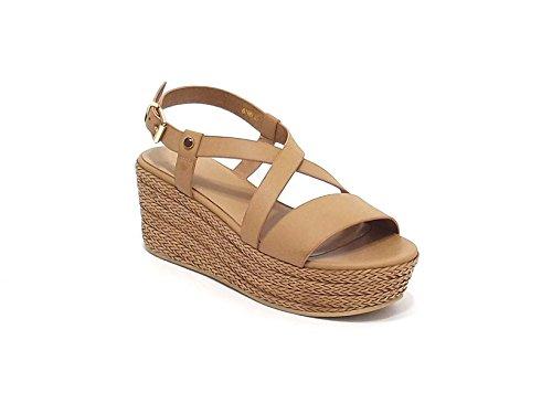 Luciano Barachini scarpa donna, modello sandalo 6018, in pelle, colore naturale