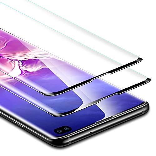 ESR Pellicola Protettiva per Samsung Galaxy S10 Plus/S10+ [2 Pezzi], Proteggischermo in Vetro Temperato [Protezione Massima 3D] [Copertura Schermo Intero], per Samsung Galaxy S10 Plus (2019)
