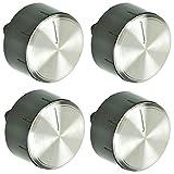 Spares2go manopola di controllo interruttore pulsante per Bosch fornello forno piano cottura (confezione da 4manopole)