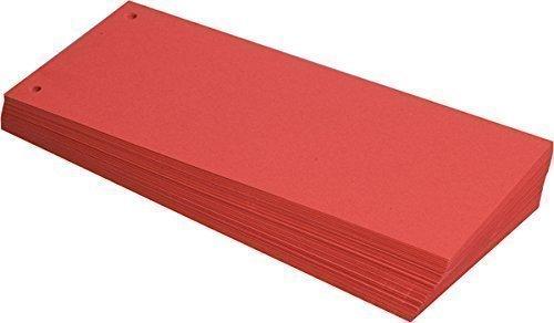 Büroring BüroLine Trennstreifen rot 10,5x24cm, 190g/qm Karton, geloch , 660571