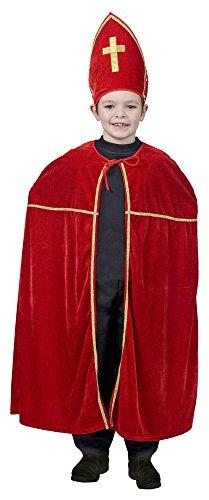 Sankt Nikolaus Kostüm für Kinder - Weihnachten Krippenspiel (Kostüm Mitra Hut)