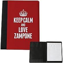 Red Keep Calm and Love Zampone grande blocco note 1669