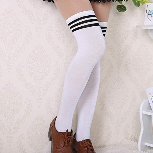 Fliyeong Baumwolle Mädchen hohe Röhre Lange Socken Studenten über das Knie Socken Mode langlebig hohe Qualität - Socken Mädchen Rohr