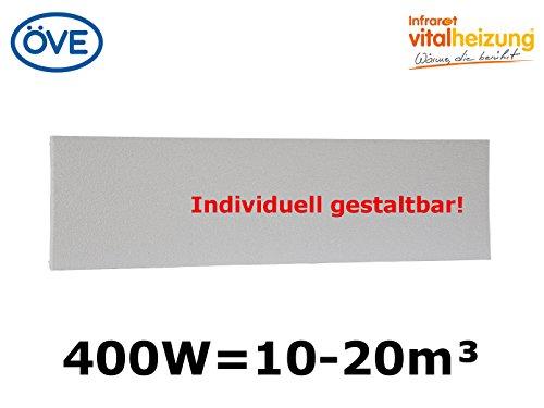 CALEFACCION POR INFRARROJOS DE 400W  150X 32CM  PARA HABITACIONES DE 10–20M³  MONTAJE DE PARED Y TECHO  HVH400