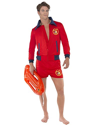 Men's Red Baywatch Costume,. Large - 36-38