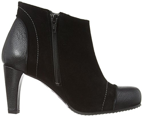 Fly London Hald Mousse/Oil Suede, Stivali donna Nero (Black/Black/Grey Stitch)