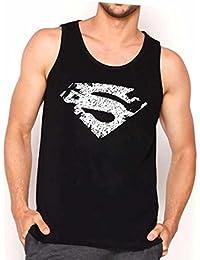 Veirdo Printed Sleeveless Black Round Neck Men's Cotton Tshirt / Vest