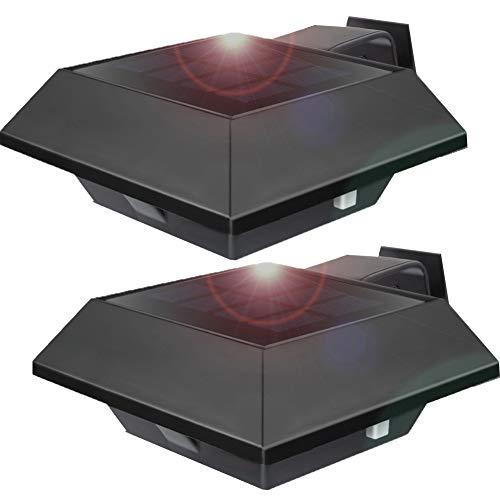 UniqueFire 2 Pezzi Bianco Freddo Energia Solare Lampada Wireless da Esterno, 6 LED Impermeabile IP65 Luci So