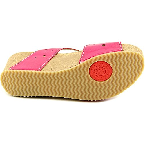 Romika Florida 05 Cuir Sandales Compensés Pink-Ocean