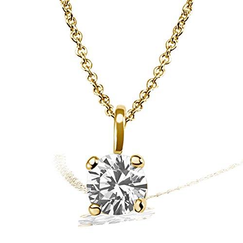 Goldmaid Damen-Kette mit Anhänger Solitär Jana Solitär Halskette Jana 0.15 ct. 585 Gelbgold Diamant (0.15 ct) weiß Brillantschliff Schmuck Diamantkette