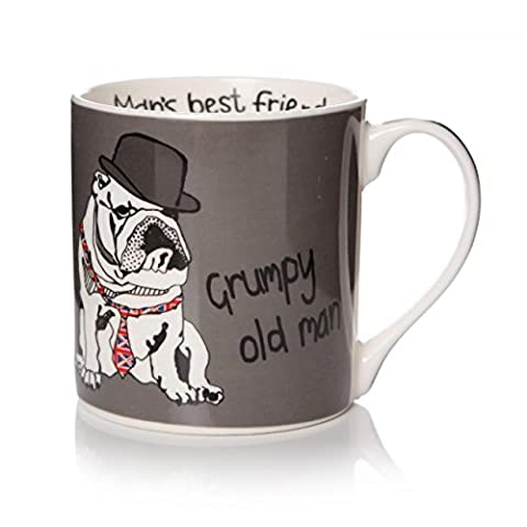 Humourous Dog Mug Grumpy Old Man Casey Rogers Man