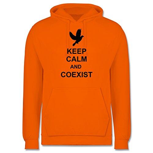 Keep calm - Keep calm and coexist - Männer Premium Kapuzenpullover / Hoodie Orange