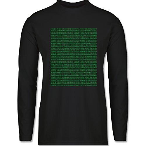 Programmierer - Binärcode - Longsleeve / langärmeliges T-Shirt für Herren Schwarz