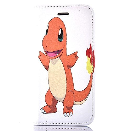 """iPhone 6/6s Pokemon PU-Lederner Schlag Mappen Hülle / Hülle mit Magnetband für Apple iPhone 6s 6 (4.7"""") / Schirm-Schutz und Tuch / iCHOOSE / Pikachu Charmander"""