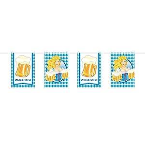 Folat: Oktoberfest - Guirnalda de banderines para Jarra de Cerveza (10 m)