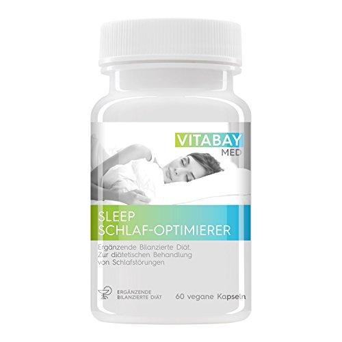 SLEEP - der Schlaf Optimierer zur Behandlung von Schlafstörungen - Schneller & besser einschlafen (60 vegane Kapseln)